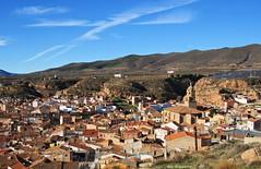 Vistas desde el castillo de Arnedo (kirru11) Tags: paisaje panorámica vistas tejados iglesia pueblo montes cielo arnedo larioja españa kirru11 anaechebarria canonpowershot