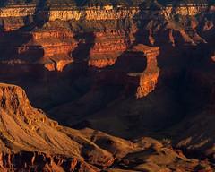 Grand Canyon National Park   |   Grandview Light and Shadow (JB_1984) Tags: sunrise morning dawn light shadow colour red orange peak canyon view vista overlook nationalpark grandviewpoint southrim grandcanyonnationalpark grandcanyon arizona az unitedstates usa nikon d500 nikond500