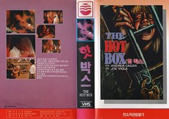 "Seoul Korea vintage VHS cover art for women-in-prison cult fave ""The Hot Box"" (1972) - ""Rumbles in the Jungle"" (moreska) Tags: seoul korea vintage vhs cover art jungle womeninprison thehotbox 1972 junglesleaze sexy sultry scream bmovie drivein grindhouse subgenre philippines hangul graphics fonts analogue videocassette rentalera logos rrated favorites fanbase collectibles archive museum rok asia"