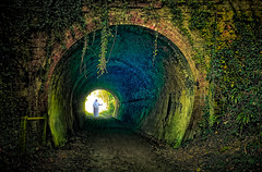 The light at the end of the tunnel. (Brian Southward) Tags: fantasy tunnel topaz composite easyhdr