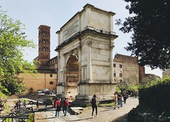 Seen here is the triumphal Arch of Emperor Titus in Rome (Strunkin) Tags: triumphal arch emperor titus rome italy