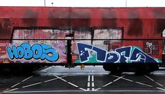 Graffiti on Freights (wojofoto) Tags: amsterdam nederland netherland holland freighttraingraffiti freighttrain freights cargotrain vrachttrein güterzug fr8 graffiti streetart wojofoto wolfgangjosten hobos fofs