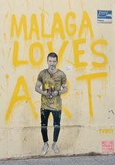 Malaga Loves Art (only lines) Tags: malaga streetart art yellow spain