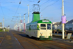 Brush Car 631 (elr37418) Tags: brush car 631 blackpool lancashire england green cream tramway english electric nikon d7100 flickr streamliner luff walter uk track road wires winter cold starr gate