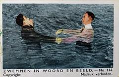 1932 Album - picture (Steenvoorde Leen - 17 ml views) Tags: albumpicture albumplaatje zwemmen zwemmeninwoordenbeeld spjborsten 1932