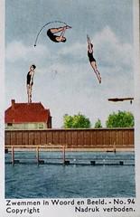 1932 Album - picture (Steenvoorde Leen - 17 ml views) Tags: albumpicture albumplaatje zwemmen zwemmeninwoordenbeeld spjborsten 1932 schoonspringen