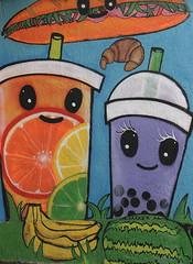 Orlando Public Art Bananas and Watermelon (Jay Costello) Tags: orlando florida orlandoflorida fl streetart publicart art colorful mills50 banana watermelon orange blue