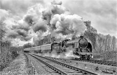 777. Approaching Swithland. (Alan Burkwood) Tags: gcr swithland sr maunsell n15 kingarthurclass 777 sirlamiel steam locomotive semaphoresignals passenger train silverefexpro2