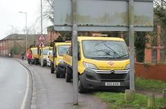 Not the White Van Man ........... (AndrewHA's) Tags: hertfordshire bishopsstortford van truck yellow citroen relay dgz4331 road works