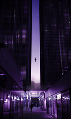 [Horizon 2.0...✈] (Mads92i) Tags: flight plane fly nikon dream dreaming city street streetart paris france night nuit cyberpunk cubercity parisdenuit parisbynight building immeubles quartier sky skyblue blue colored violet bright light