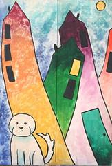 Orlando Public Art Mills 50 Maltese (Jay Costello) Tags: orlando florida orlandoflorida fl streetart publicart art colorful mills50 utilitycabinet dog green orange