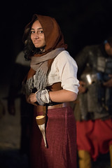 Young woman in medievel clothing