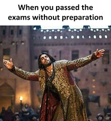 When you passed examinations without preparation (gagbee18) Tags: examination exams funny funnymemes memes students