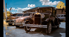 Classics in Infrared (Whitney Lake) Tags: carlot volswagon vw modela antiques classics cars infrared ir
