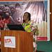 Busie Maziya-Dixon presenting a seminar on healthy diets