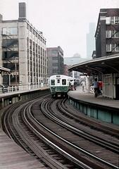 CTA Ravenswood Chicago Ave Jul73 (jsmatlak) Tags: cta chicago l elevated train rapid transit subway metro 6000