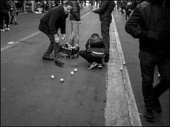 Pick Up (GColoPhotographer) Tags: streetphotography bergamo bw market blackandwhite cart bianconero street