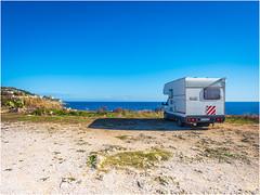Camper parking (Luc V. de Zeeuw) Tags: camper motorhome rv santacesareaterme apulia italy