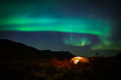 Arctic Nights (tms\) Tags: aurora northern lights sky mountains tent camping canada yukon wilderness nature landscape