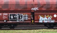 Graffiti on Freights (wojofoto) Tags: amsterdam nederland netherland holland freighttraingraffiti freighttrain freights cargotrain vrachttrein güterzug fr8 graffiti streetart wojofoto wolfgangjosten railr pob