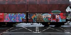 Graffiti on Freights (wojofoto) Tags: amsterdam nederland netherland holland freighttraingraffiti freighttrain freights cargotrain vrachttrein güterzug fr8 graffiti streetart wojofoto wolfgangjosten