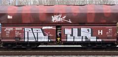 Graffiti on Freights (wojofoto) Tags: amsterdam nederland netherland holland freighttraingraffiti freighttrain freights cargotrain vrachttrein güterzug fr8 graffiti streetart wojofoto wolfgangjosten railr