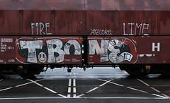 Graffiti on Freights (wojofoto) Tags: amsterdam nederland netherland holland freighttraingraffiti freighttrain freights cargotrain vrachttrein güterzug fr8 graffiti streetart wojofoto wolfgangjosten tbone