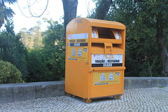 Recycling Bin (Ray's Photo Collection) Tags: bank sintra clothes used recycling portugal bin