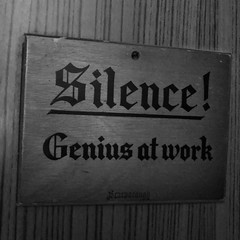 Day 23 (Tishkin) Tags: sign work souvenir silence scarborough genius wood