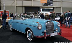 Mercedes-Benz 220S Ponton cabriolet 1956 (XBXG) Tags: mercedesbenz 220s cabriolet 1956 benz mb mercedes220s mercedesbenz220s 220 s ponton blue bleu cabrio convertible roadster tourer w180 mercedesw180 interclassics 2020 forum expo exhibition mecc maastricht limburg nederland holland netherlands paysbas vintage old german classic car auto automobile voiture ancienne allemande germany deutsch duits deutschland vehicle indoor