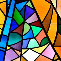 Palette de couleurs - opus 2 (Olivier Simard Photographie) Tags: stiftskirche badenbaden allemagne collégiale église vitrail couleurs carré square florentinerberg lignes géométrie badenwürttemberg églisecollégialedelasaintecroix