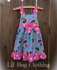 49427391306_b5e498791b_o-2 (Lil' Bug Clothing) Tags: dora the explorer jumper dress