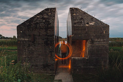 IMG_8633 (ewijk-fotografie.nl) Tags: bunker 599 bunker599 culemborg nederland netherlands dutch light painting lightpainting war oorlog warmonument monument