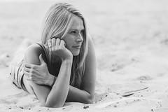 Selja at Isosaari (Mikko Miettinen) Tags: isosaari helsinki finland portrait woman summer whitesand beach sunny bw