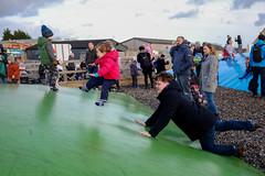 Photo of Ed launches Alex onto the Marshmallow Mound