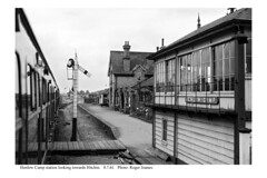 Photo of Henlow Camp signal box and station. 8.7.61