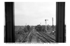 Photo of Shefford. 41224 & freight for Hitchin viewed from a train for Bedford. 8.7.61