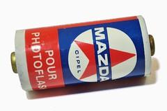 Mazda, pile R 1001, 15V (France) (Cletus Awreetus) Tags: photographie mazda r1001 pile battery flash éclairage