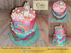 Unicorn & Mermaid Themed 5th Birthday Cake (Cakes On Point) Tags: cakesonpoint cakesonpointwolverhampton unicornbirthdaycake wolverhampton unicorn birthday