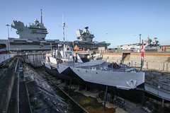 HMS M.33 - Portsmouth Historic Dockyard - UK (phil_king) Tags: ship boat hms m33 royal navy ww1 gallipoli maritime history historic portsmouth dockyard prince wales queen elizabeth aircraft carrier hampshire england uk warship
