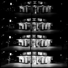 Different apertures (mileffers) Tags: xt20 bw sw subway bvg krummelanke berlin