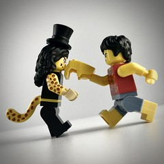 Luffy vs Lucci (theoctopirate_customs) Tags: lego luffy lucci purist custom minifigures afol one piece