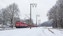 Good Bye E40 (36) (Klaus Z.) Tags: eisenbahn kbs 395 leer ostfriesland br 140 güterzug doppelbespannug autozug db cargo schnee winter 2016