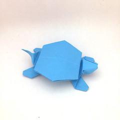 Origami Simple Turtle (Orimin) Tags: origami paper papercraft craft art handmade design animal turtle blue shell simple model mindaugas cesnavicius