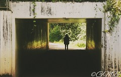 There's light at the end of the tunnel (bullinghamgrace) Tags: silhouette tunnel people