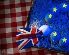 Breggsit (Trip choc) Tags: britain flag brexit eggs europe blue unionjack uk political broken hatch