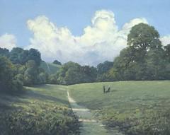 Bugs Bottom with Cumulous Clouds (picton_richard) Tags: ham reading berkshire uk england english landscape treesfields cumulous clouds