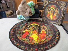 (pefkosmad) Tags: tsarsaltan falcon jigsaw puzzle hobby leisure pastime complete used secondhand 500pieces circular round skaska vintage epic poem alexanderpushkin story tedricstudmuffin teddy ted bear animal toy cute cuddly plush fluffy soft stuffed