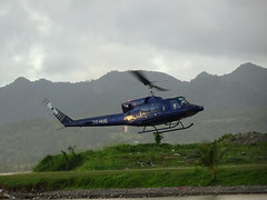 Helicoper Lift-Off (mikecogh) Tags: suva fiji helicopter flight blades liftoff medivac