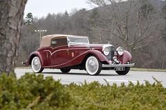 1936_Bentley_03 (NC Mountain Man) Tags: bentley 1936bentley 1936 antique ragtop convertible lowresolutionversion ncmountainman nikon d3400 phixe 1936bentley35literdrophead trees dof